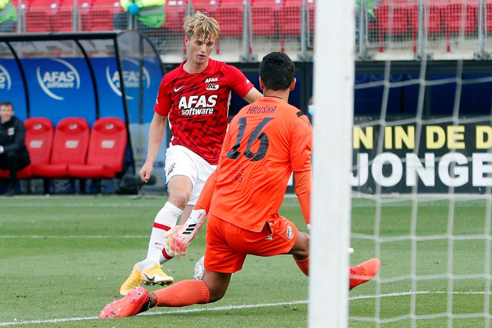 Albert Guðmundsson í æfingaleik með AZ Alkmaar á dögunum.