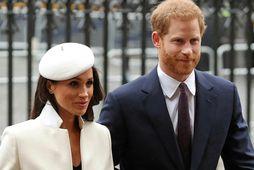 Harry Bretaprins og Meghan hertogaynja af Sussex.