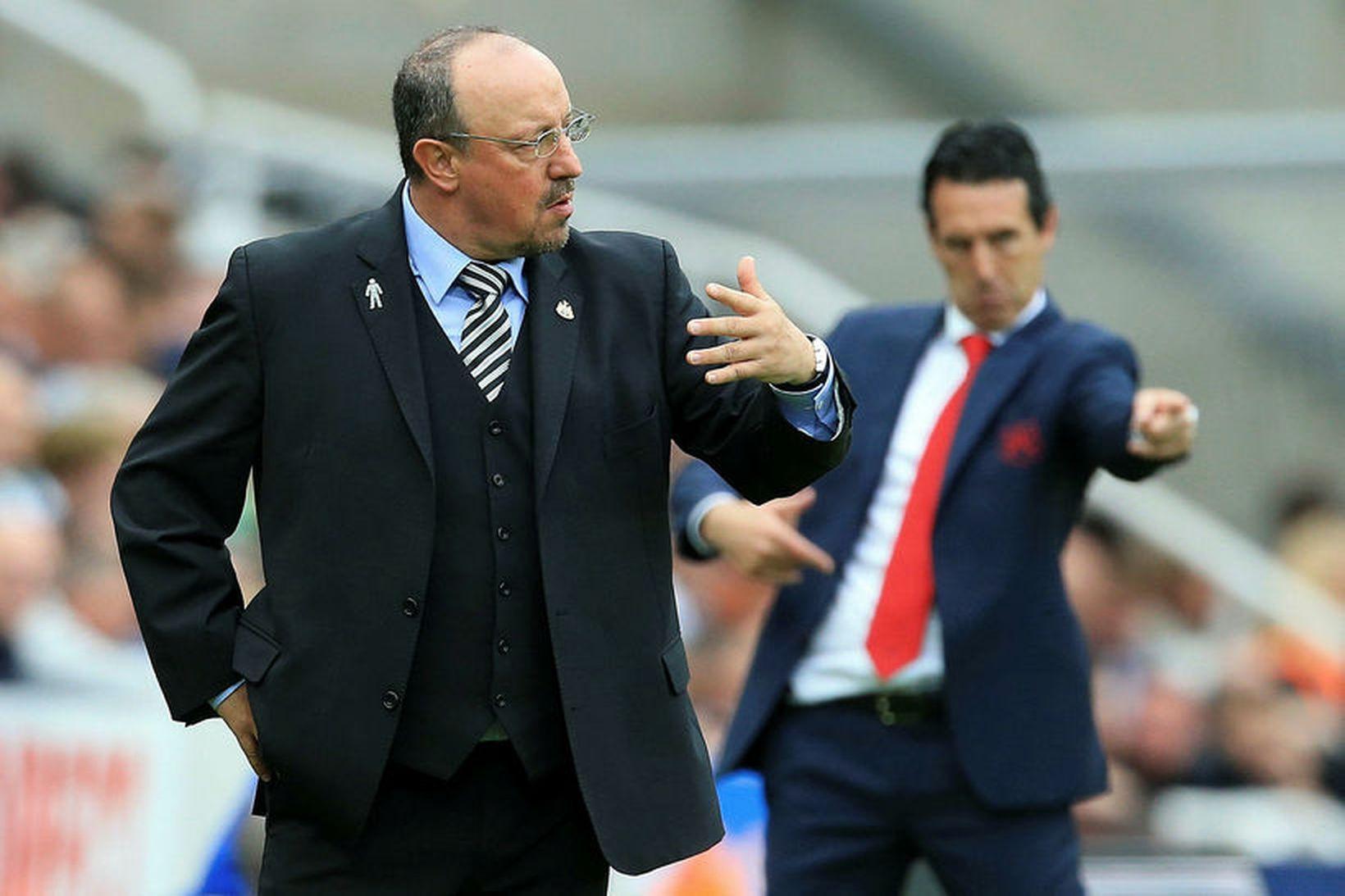 Rafa Benítez á hliðarlínunni sem stjóri Newcastle á sínum tíma.