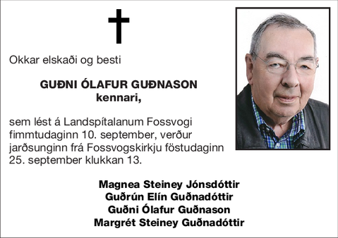 Guðni Ólafur Guðnason