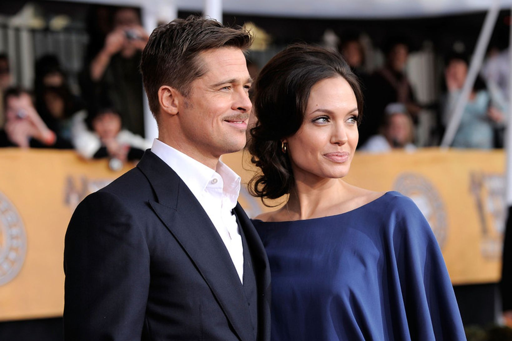 Brad Pitt og Angelina Jolie árið 2009.