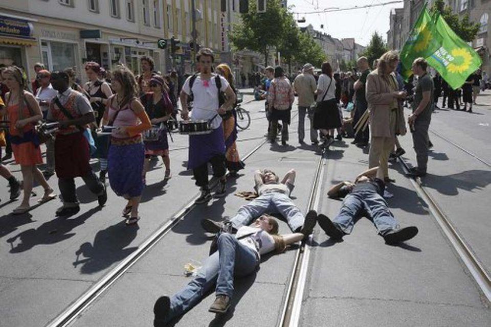 Nokkuð róstusamt hefur verið í Berlín í dag.