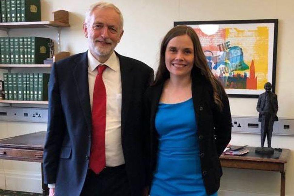 Jeremy Corbyn, leiðtogi breska Verkamannaflokksins, og Katrín Jakobsdóttir forsætisráðherra hittust ...