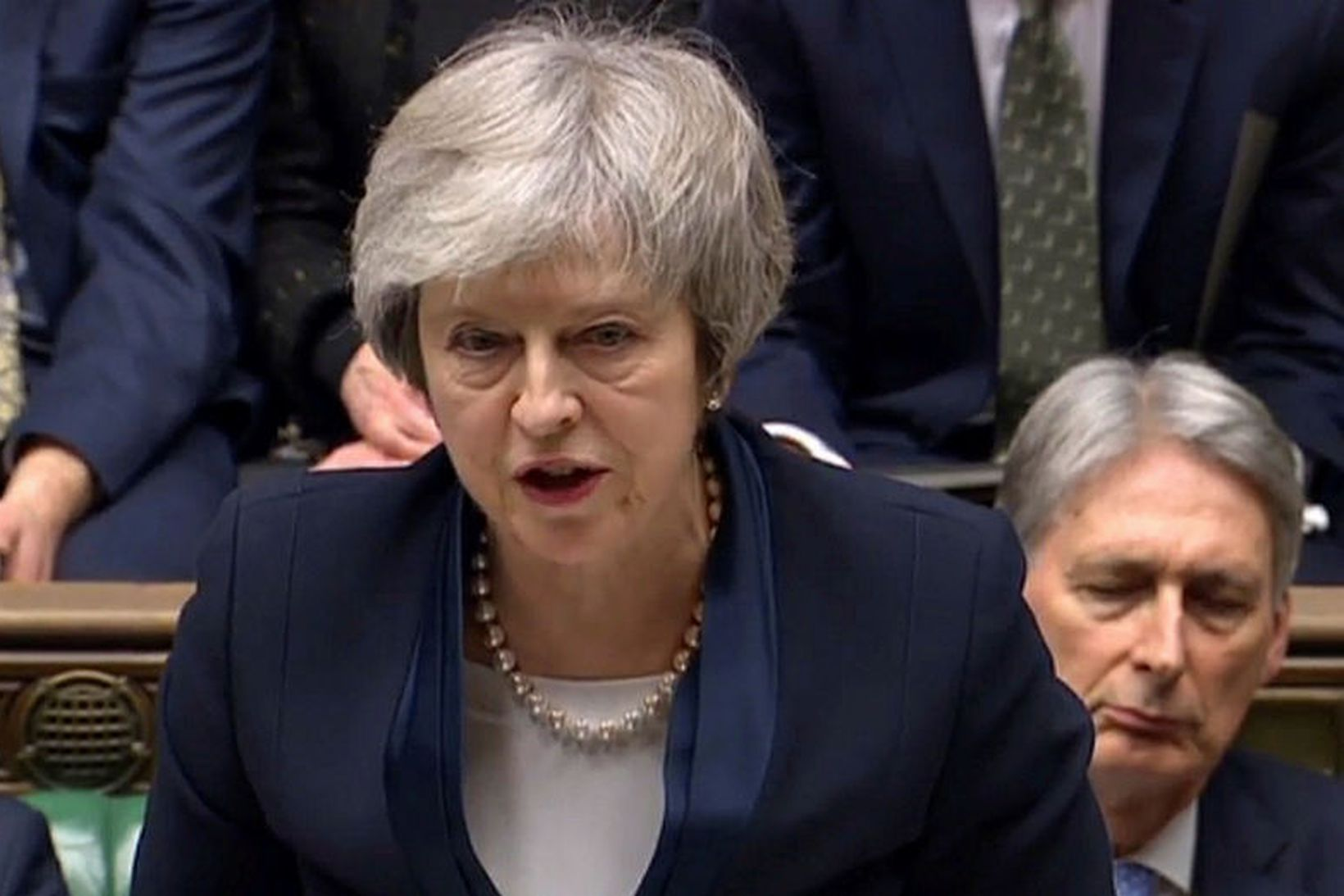 Theresa May, forsætisráðherra Bretlands, ávarpar breska þingið í dag.