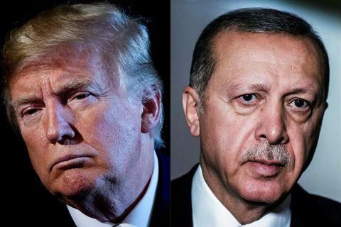 Donald Trump Bandaríkjaforseti ræddi ástandið í norðausturhluta Sýrlands við Recep Tayyip Erdogan Tyrklandsforseta í síma ...