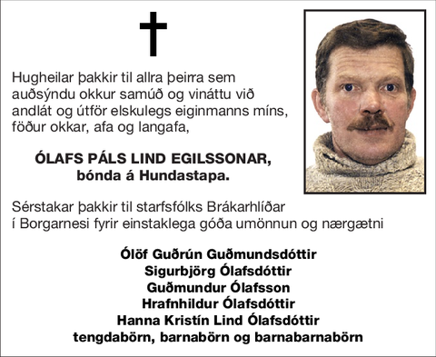 Ólafs Páls Lind Egilssonar,