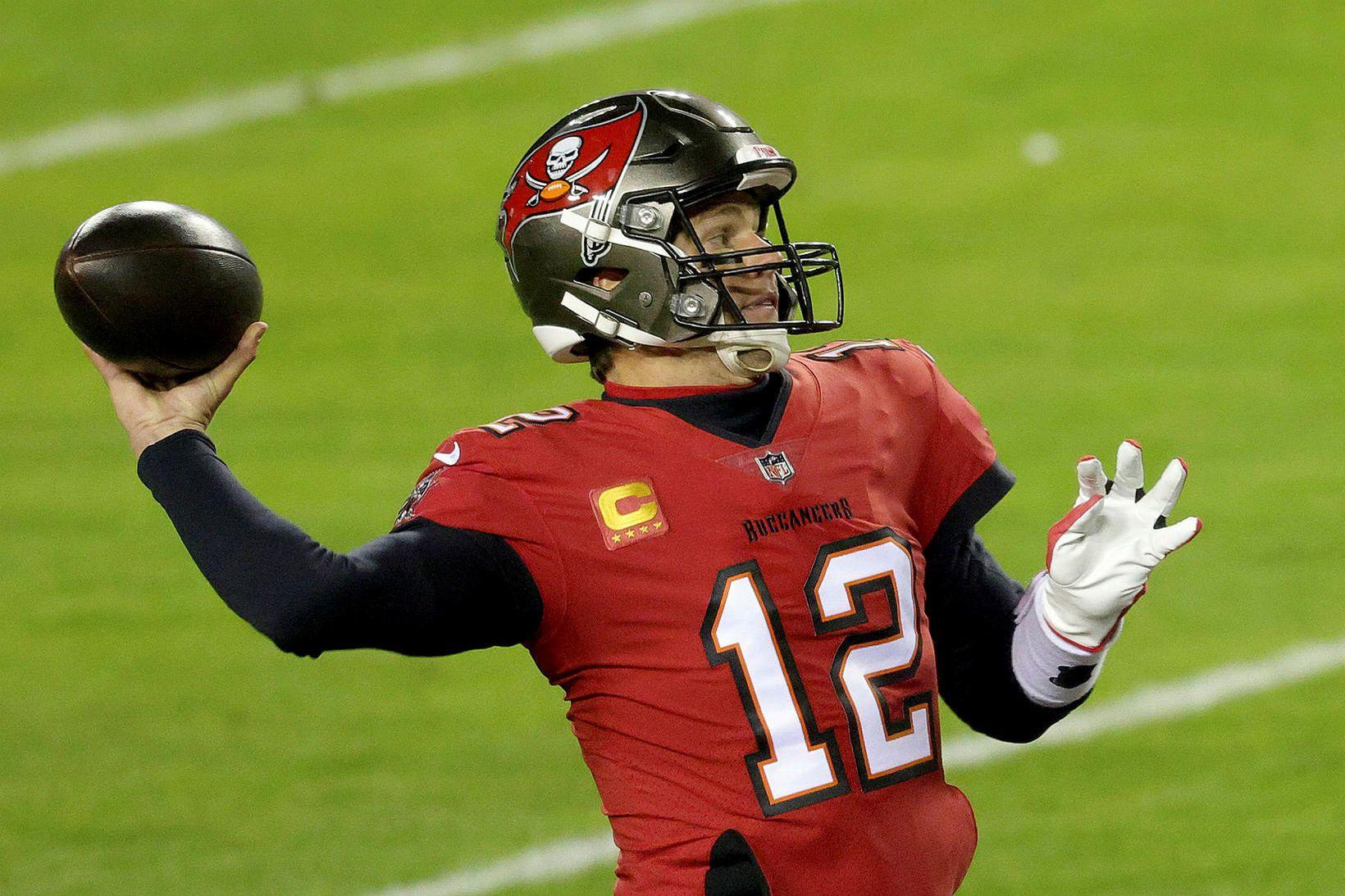 Tom Brady er sigursælasti leikstjórnandi í sögu NFL-deildarinnar.
