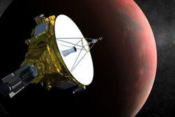 New Horizons er nú í tæplega fimm milljarða kílómetra fjarlægð frá jörðinni og hefur ferðast …