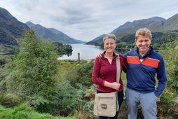 Vilborg og Snorri Guðmundsson sem rekur ferðaþjónustuna Skotgöngu, í Glenfinnan í hálöndum Skotlands. Á þessum …