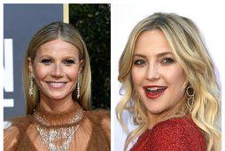 Gwyenth Paltrow og Kate Hudson hafa kysst heita Hollywood-leikara á hvíta tjaldinu.