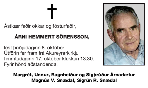 Árni Hemmert Sörensson,