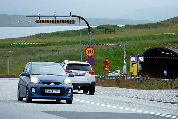From the entrance to Hvalfjörður Tunnel.