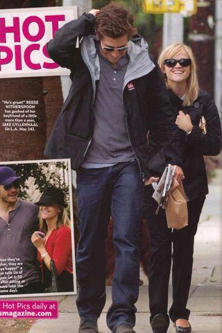 Ljósmynd úr UsWeekly af Jake Gyllenhaal ásamt Reese Witherspoon.