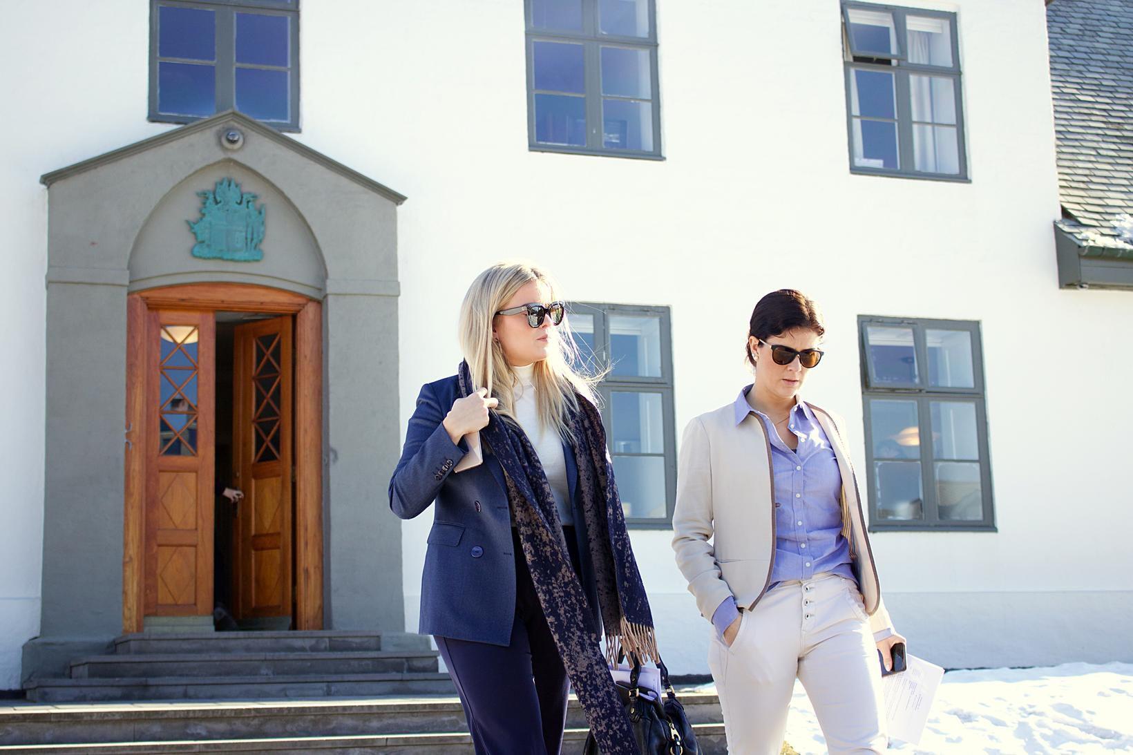 Áslaug Arna Sigurbjörnsdóttir dómsmálaráðherra og Þórdís Kolbrún Reykfjörð Gylfadóttir ferðamálaráðherra.