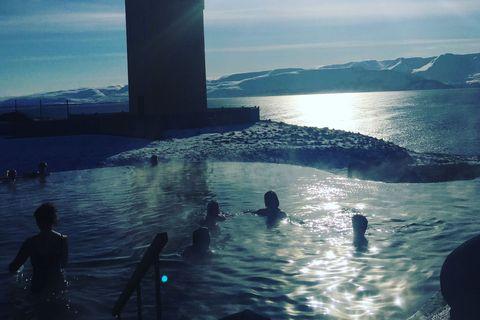 From the Geosea geothermal sea baths in Húsavík, Northeast Iceland.