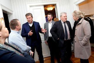 Fulltrúar ríkisstjórnar Íslands og heildarsamtaka á vinnumarkaði voru á meðal þeirra sem hittust á fundi ...
