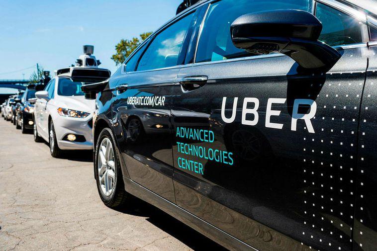 An Uber taxi.