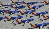 737 vélar Boeing á vegum Southwest Airlines sem hafa verið kyrrsettar eins og vélar sömu ...
