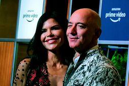 Jeff Bezos og Lauren Sanchez.