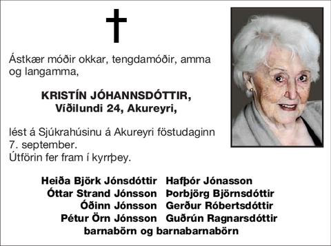 Kristín Jóhannsdóttir,