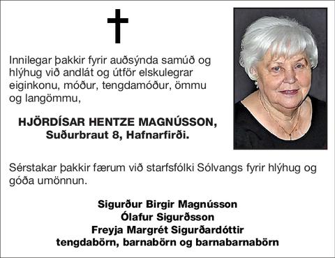 Hjördísar Hentze Magnússon,