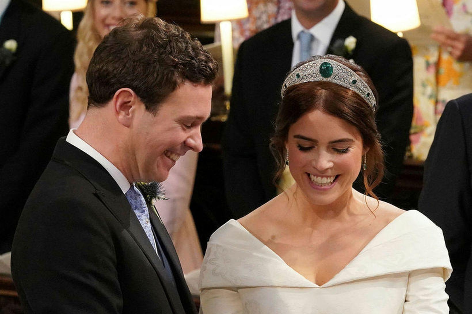 Jack Brooksbank og Eugenie prinsessa eiga von á barni.