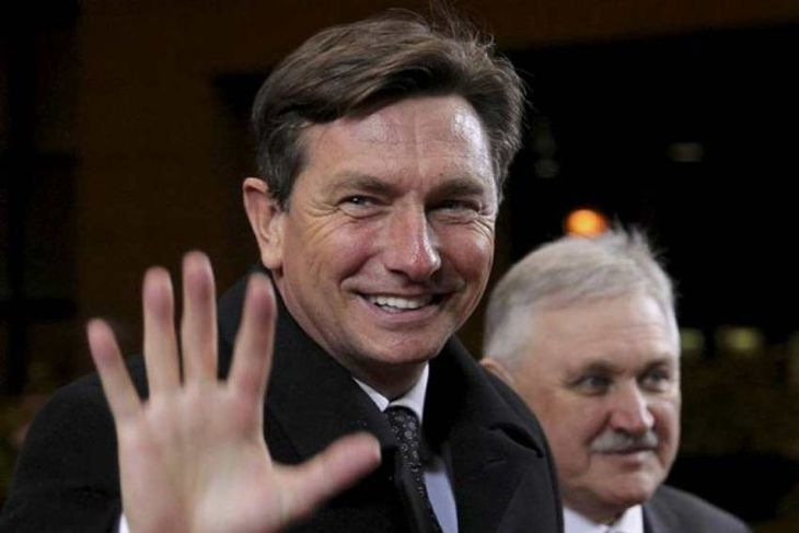 Slovenia's Prime Minister Barut Pahor arrives at an European Union summit in Brussels December 8, ...