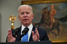 Joe Biden fundaði með Benjamin Netenyahu símleiðis í dag.