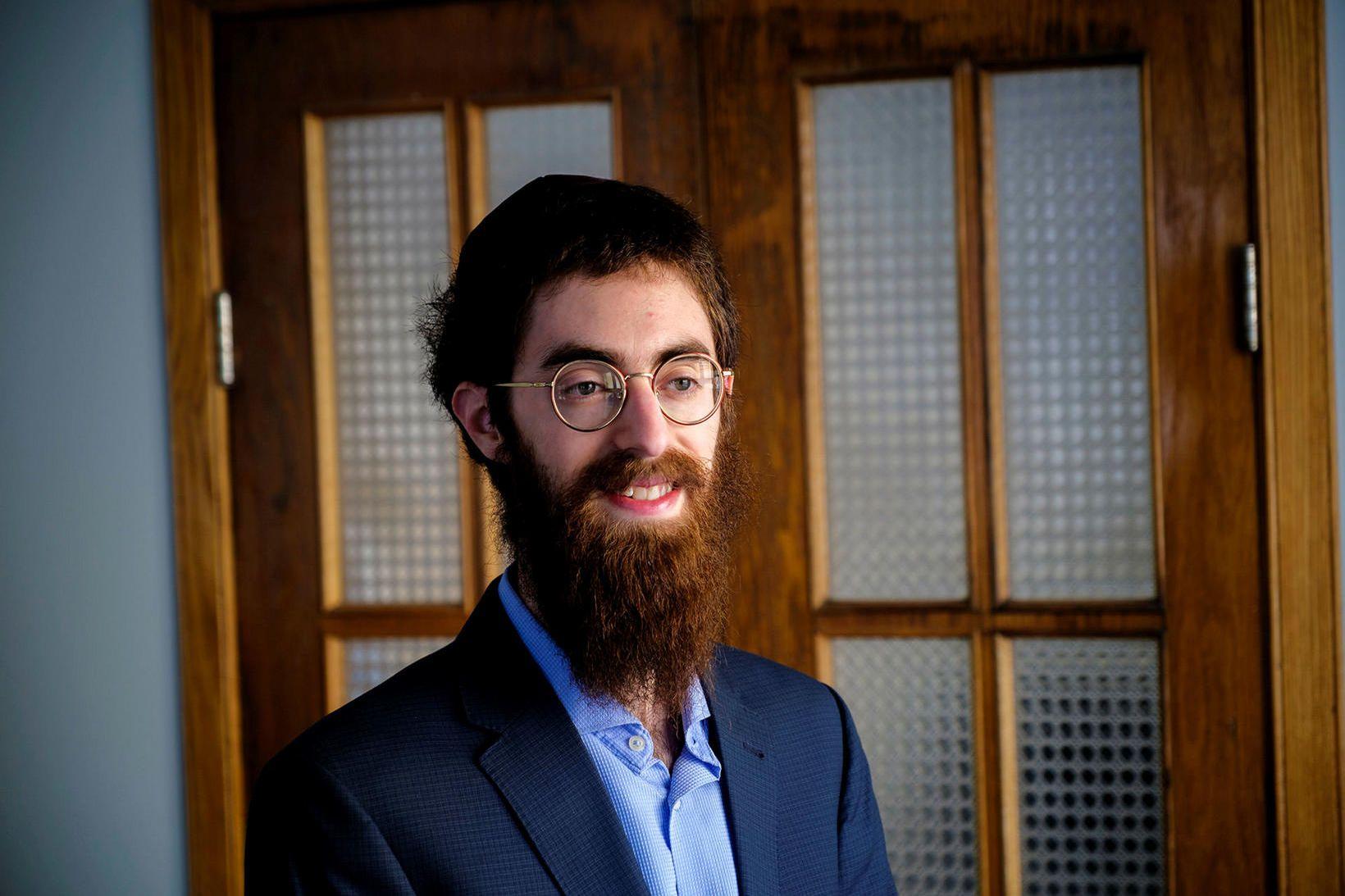 Avraham Feldman, rabbíni gyðingasamfélagsins á Íslandi.