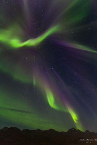 Norðurljós yfir Fáskrúðsfirði þriðjudagskvöldið 28. ágúst 2013.