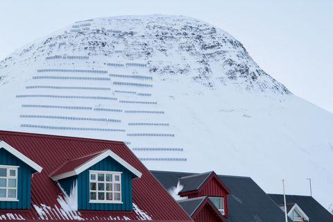 Ofanflóðavarnir á Ísafirði.