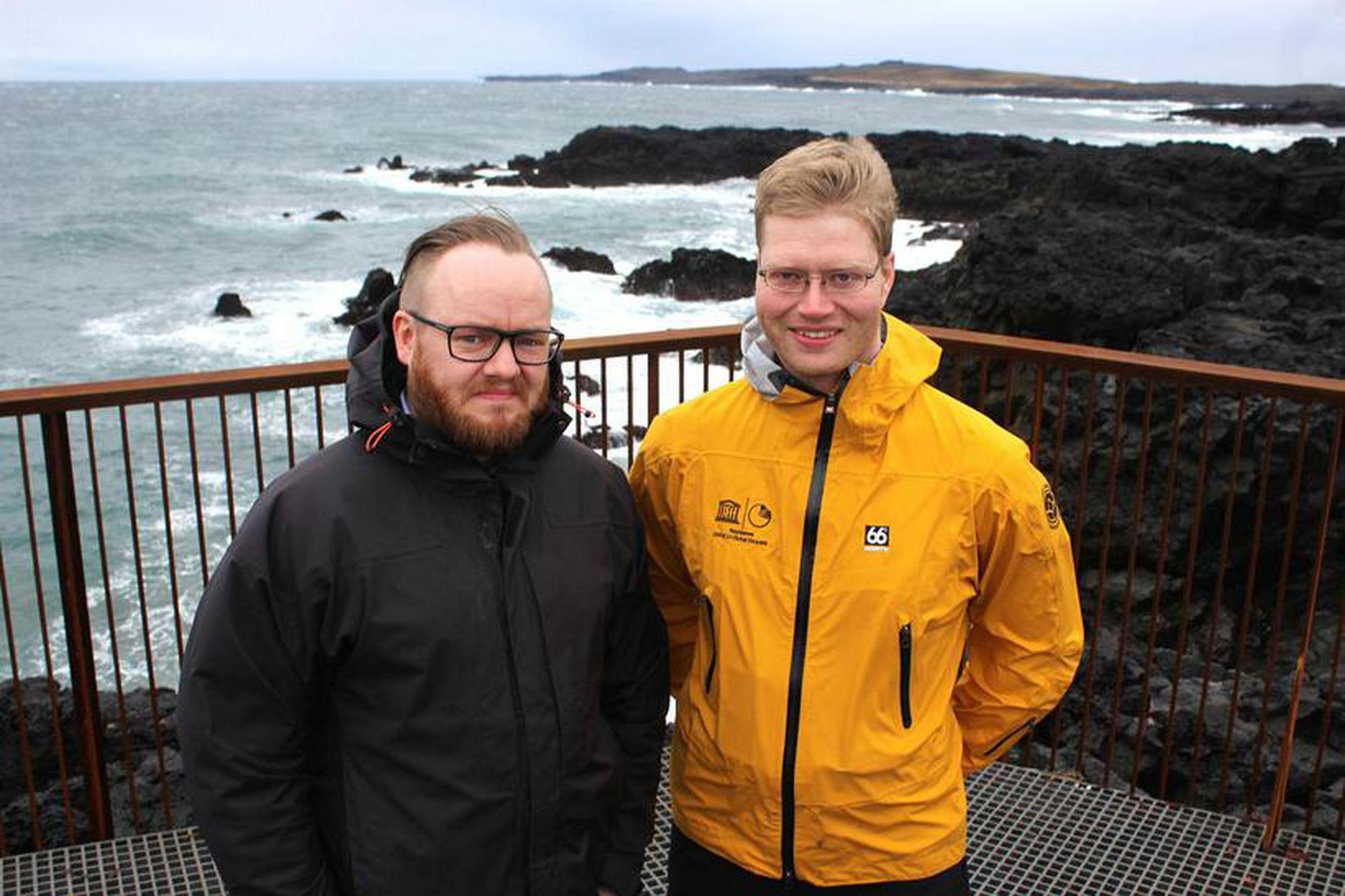 Siggeir Ævarsson, til vinstri, og Eggert Sólberg Jónsson á nýja …