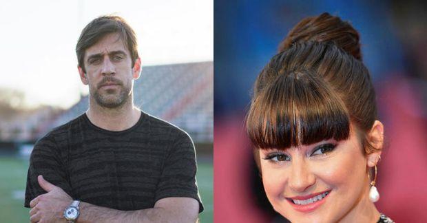 Aaron Rodgers og Shailene Woodley eru trúlofuð.