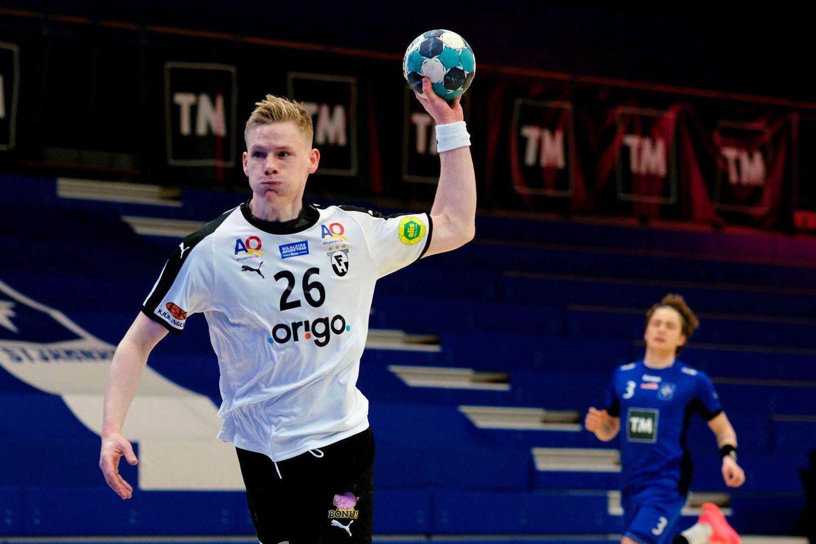 Birgir Már Birgisson var besti maður Hafnfirðinga í dag.