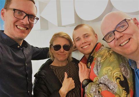 Hvati, María Sólrún, Magnús og Ásgeir Páll.