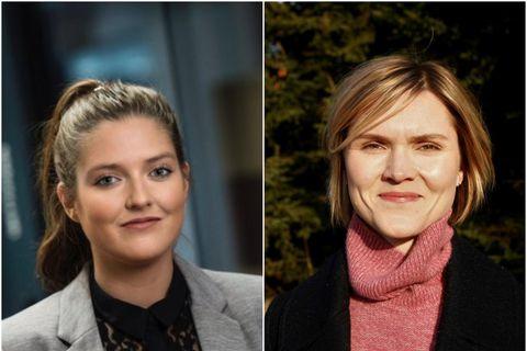 Andrea Sigurðardóttir og Kristrún Frostadóttir.