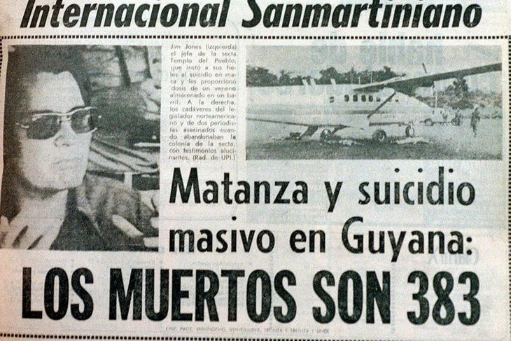 Forsíða argentínska blaðsins Clarin 21. nóvember 1978 þar sem greint ...