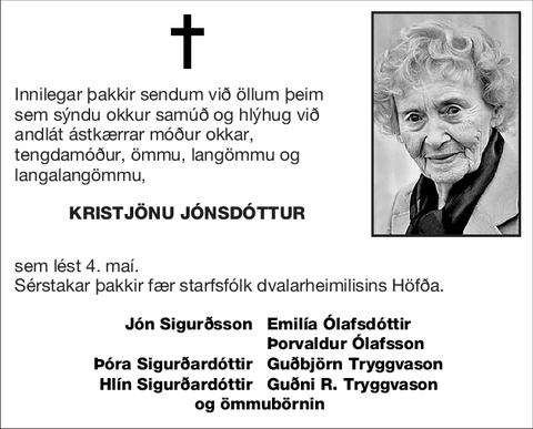 Kristjönu Jónsdóttur
