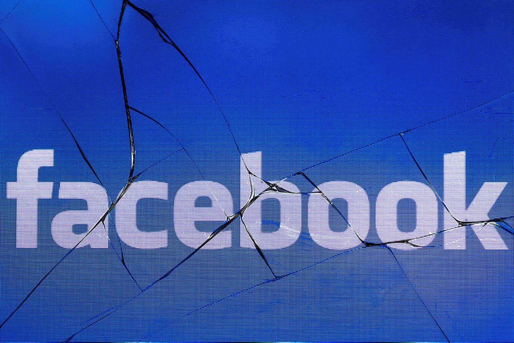 Samkvæmt könnuninni virtist mest vera um falsfréttir á Facebook, en …