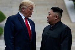 Donald Trump og Kim Jong Un.