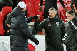 Liverpool og Manchester United skiptu með sér stigunum á Anfield í gær.