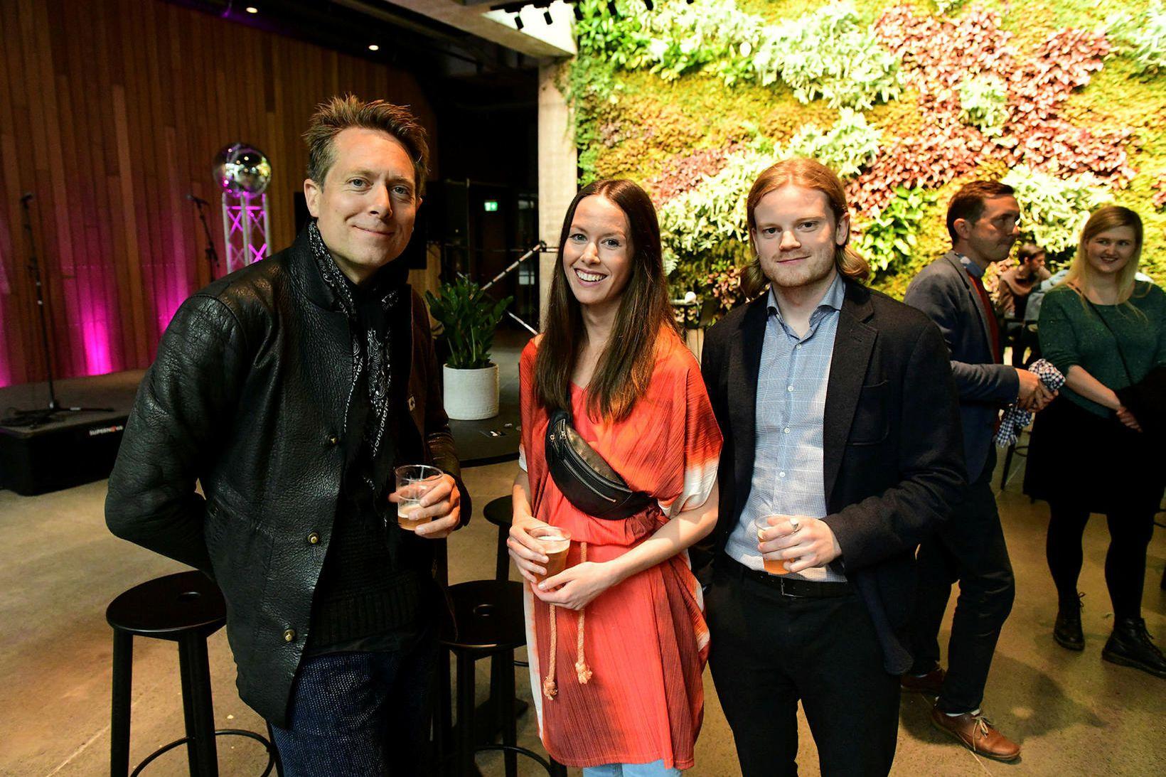 Davíð Helgason, Sunna Halla Einarsdóttir og Freyr Friðfinnsson.