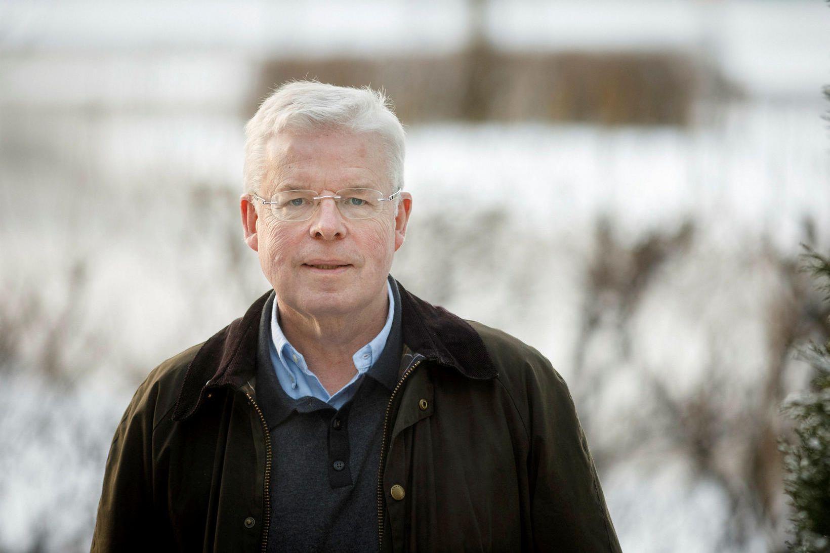 Einar K. Guðfinnsson, sem starfar að fiskeldismálum hjá Samtökum fyrirtækja …