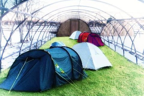 Here you can camp all year round protected from the Icelandic elements.