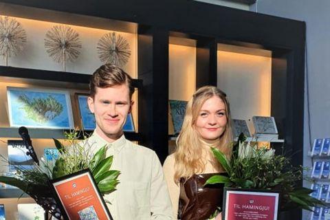 Einar Lövdahl og Anna Hafþórsdóttir vinningshafar