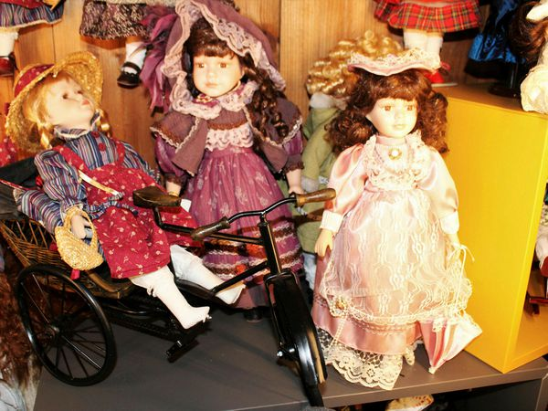 Some of the dolls on display.