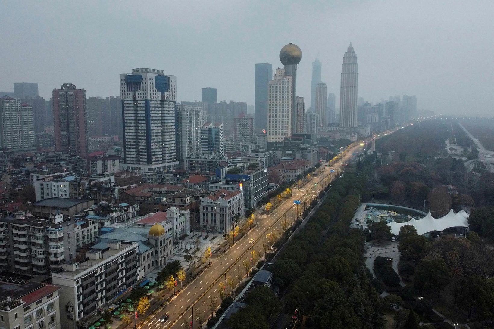 Upptök veirunnar eru rakin til kínversku borgarinnar Wuhan.