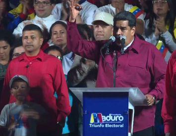 Maduro fagnar sigri