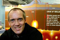 Dr. Ármann Höskuldsson, eldfjallafræðingur, fann vel fyrir skjálftanum stóra.