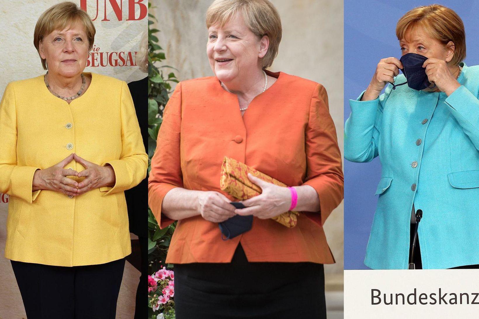 Angela Merkel hefur komið sér upp hinum fullkomna fataskáp hinnar …